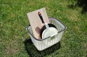 調理道具セット(包丁、まな板、ボール大・小、ざる大小、フライパン、フライ返し)