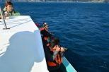 海上からの写真撮影に夢中です!
