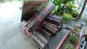 穴を開けた竹