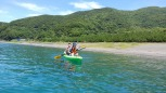 まずは浅瀬で練習をしました