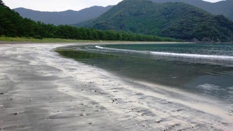 波当津海岸 地元の人たちに愛される美しい浜