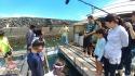 ヒオウギ貝養殖場見学