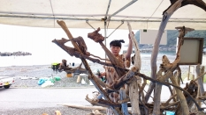 流木アート