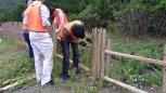 竹材の取り付け