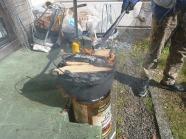 炭を上に乗せ、上熱で調理